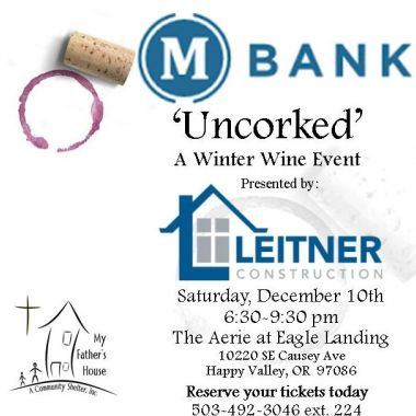 """""""Uncorked"""" A Winter Wine Event"""